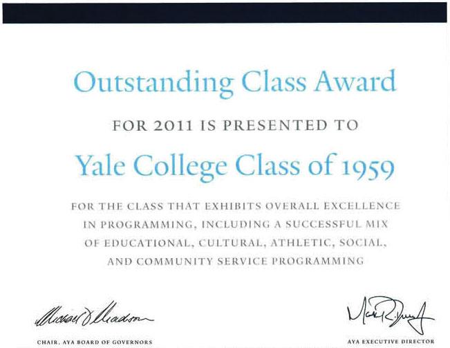 1959 AYA Award