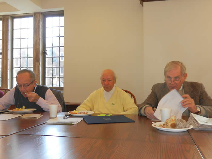 LEFT TO RIGHT: CLASS TREASURER BEN GERTZ, CLASS SECRETARY JOE STALEY FORMER CLASS SECRETARY TOM MAXEY